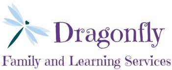 Dragonfly blue. Dragonfly Family and Learning Services logo
