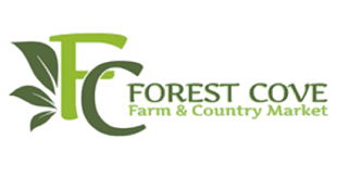 Green leaves, Forest Cover Farm and Country Market logo