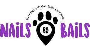 Paw print in black. Nails by Bails, logo
