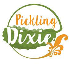 Pickle in a circle. Pickling Dixie logo