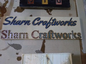 <b>Sharn Craftworks Samples of lettering</b>