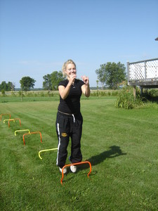 <b>Morgan Pirie: Revolve Training and Conditioning 2009</b><br />Morgan offers a youth camp where participants receive professional conditioning and training to help them develop their sports skills. She also offers one-on-one private fitness training for adults.