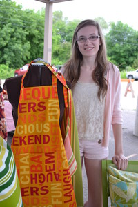 <b>Katie Simms - Pillows by Katie - 2014</b><br />Katie sews handmade outdoor pillows and aprons of various sizes