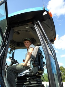 <b>Ben Straathof: Farm Boy For Hire 2011</b><br />Ben was hired as a farm labourer jobs included: milking, cleaning pens, operating farm equipment and preparing cattle for show.