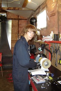 <b>Christian Caron - Caron Small Engine - 2007</b><br />Christian repaired small engines, lawn mowers, and outboard engines.