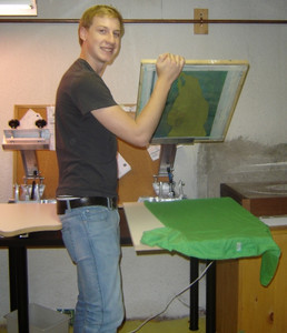 <b>Sam Johnstone: Impossible Speed 2009</b><br />Sam makes customized silkscreen t-shirts. He hand-draws the design or logo to your specifications and creates one of a kind quality t-shirt.