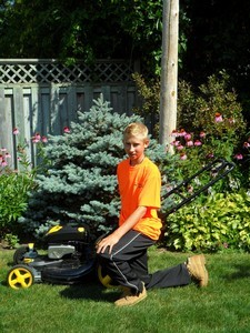 <b>Kyle Olmstead: Kyle's Grass Works 2011</b><br />Kyle offers complete and reliable lawn care service
