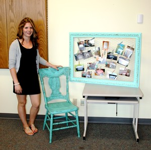 <b>Savanna Enright - Chalk of the Town Furniture - 2014</b><br />Savanna used Chalk paint to customize and upcycle old wooden furniture