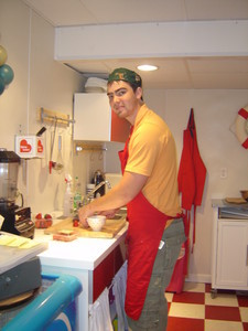 <b>Bert Lockhart: Bert's Crepes 2010 </b><br />Bert created custom baked fresh to order crepes with an assortment of fillings and toppings.