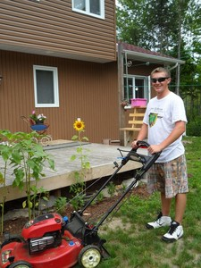 <b>Mitchel Schroeder: Lawn Enforcer 2011</b><br />Mitchel offers total lawn care and has very flexible hours to suit your schedule