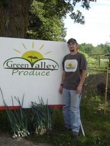 <b>Justin Barr: Green Valley Produce 2009</b><br />Justin grows vegetables, herbs and gladiolas that can be pre-ordered or purchased at the local farmers market.