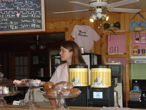 <b>Meaghan Lockhart - Bikini Cups Cafe - 2004</b><br />Bikini Cups Cafe located in Deacon serves up great coffee, ice cream and other delicious treats.